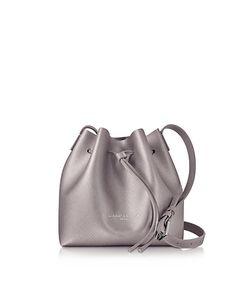 LANCASTER PARIS | Pur Element Rose Saffiano Leather Mini Bucket Bag
