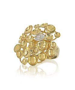 Orlando Orlandini | 18k Large Bouquet Ring W/Diamond