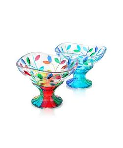 Due Zeta | San Marco Hand Decorated Murano Glass Dessert Bowl