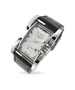 Locman   Latin Lover Автоматические Часы С Серебристым Циферблатом И Ремешком Из Кожи Рептилий