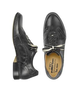 Pakerson | Black Italian Handmade Leather Lace-Up Shoes