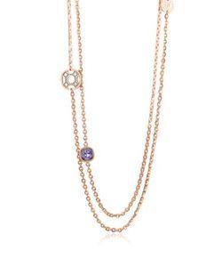 Rebecca   Seventies Длинное Ожерелье Из Розового Золота 18 Карат На Бронзе