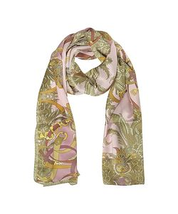 Mila Schon | Ornamental And Pattern Printed Satin Silk Stole