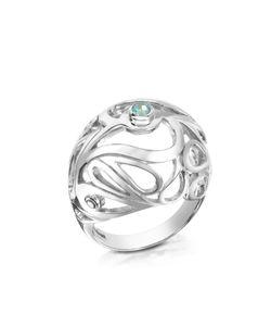 Sho London   Mari Кольцо Из Серебра 925 Пробы С Дымчатым Кварцем Синими