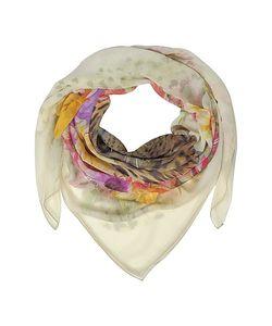 Laura Biagiotti | Leopard And Flowers Print Silk Shawl