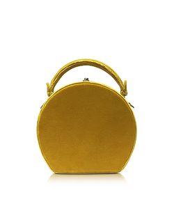 BERTONI 1949 | Mustard Velvet Bertoncina Satchel Bag