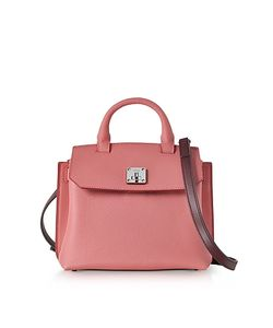 MCM | Small Blush Pebble Leather Milla Crossbody Bag
