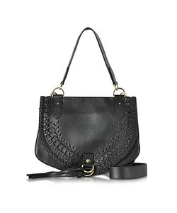 See by Chloé | Collins Braided Leather Shoulder Bag W/Tassels