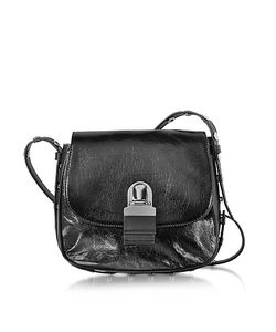 MM6 Maison Martin Margiela | Cracked Leather Shoulder Bag
