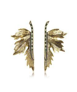 Alcozer & J   Nymph Tone Brass Earrings