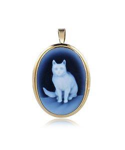 Del Gatto | Cat Agate Cameo Pendant