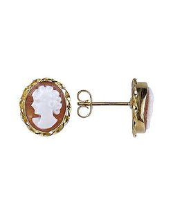 Del Gatto | Sardonyx Cameo 18k Gold Earrings