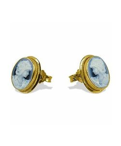 Del Gatto | Agate Stone Cameo Earrings