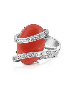 Del Gatto | Red Diamond Channel 18k Gold Ring