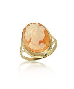 Del Gatto | Woman Cornelian Cameo 18k Ring
