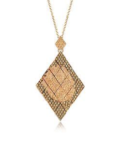 Azhar | Rosa Silver And Zircon Pendant Necklace