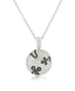 Azhar | Black Cubic Zirconia And Zircon Sterling Silver Necklace