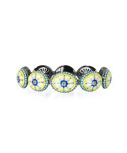 Azhar | Capri Silver Zircon And Enamel Bracelet