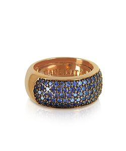 Azhar | Blue Cubic Zirconia Silver Vermeil Ring
