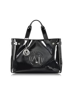 ARMANI JEANS | Large Faux Patent Leather Tote