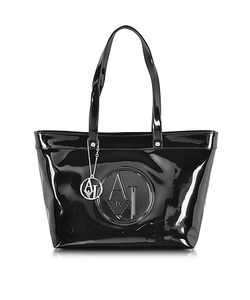 ARMANI JEANS | Eco Patent Leather Large Tote Bag