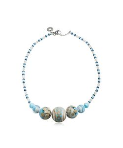 Antica Murrina | Papaya 2 Pastel Murano Glass Choker