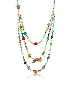 Antica Murrina | Brio Triple-Strand Murano Glass Bead Necklace