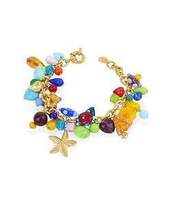 Antica Murrina | Marilena Murano Glass Marine Gold Plated Bracelet
