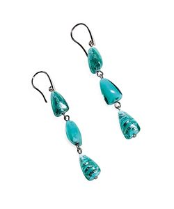 Antica Murrina | Marina 1 Green Murano Glass And Silver Leaf Dangling