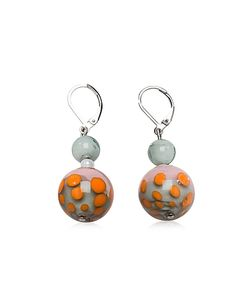 Antica Murrina | Papaya 1 And Multicolor Murano Glass Earrings