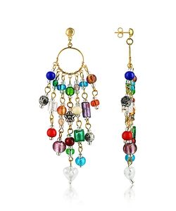Antica Murrina | Brio Murano Glass Bead Chandelier Earrings