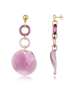 Antica Murrina | Syria Murano Glass Disc Drop Earrings