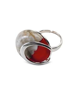 Antica Murrina | Oriental Murano Glass Ring W/Crackling Effect
