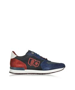 D'Acquasparta   Botticelli Suede And Fabric Mens Sneaker