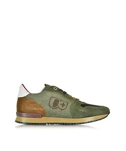 D'Acquasparta   Botticelli Forest Suede And Fabric Mens Sneaker