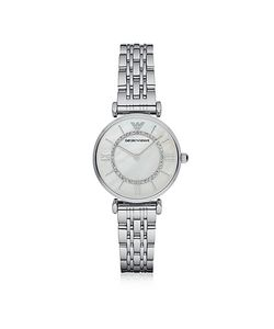 Emporio Armani | Gianni T-Bar Tone Stainless Steel Womens Watch W/Mother Of Pearl And
