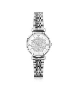 Emporio Armani | Gianni T-Bar Tone Stainless Steel Womens Watch W/Crystals Dial