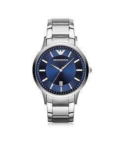 Emporio Armani | Renato Tone Stainless Steel Mens Watch W/Blue Dial