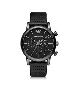 Emporio Armani | Luigi Stainless Steel Leather Mens Watch