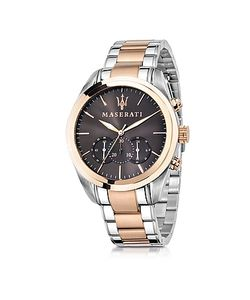 Maserati | Traguardo Two Tone Stainless Steel Chrono Mens Watch