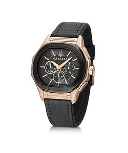 Maserati | Fuoriclasse Multi-Function Dial And Black Eco-Leather Strap Mens Watch