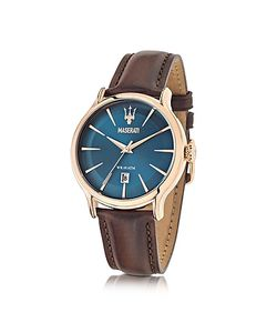 Maserati | Epoca Dial And Brown Leather Strap Mens Watch
