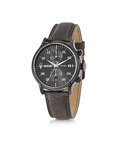 Maserati | Epoca Chronograph Dial And Leather Strap Mens Watch