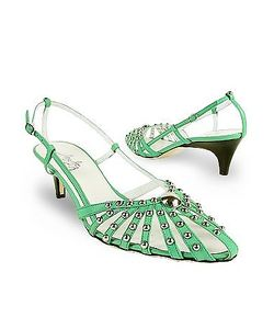 Amaltea   Studded Strappy Leather Pump Shoes