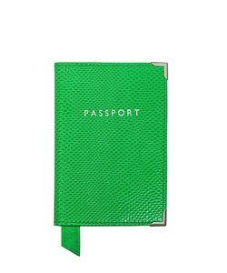 ASPINAL OF LONDON | Grass Lizard Passport Cover