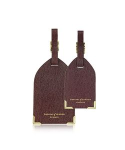 ASPINAL OF LONDON | Set Of 2 Saffiano Luggage Tags