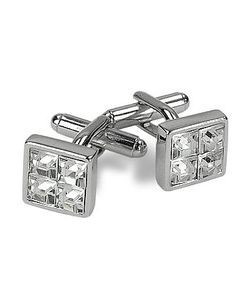 AZ Collection | Plated Jeweled Cufflinks