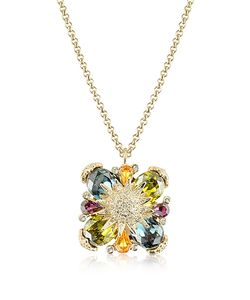 AZ Collection | Gold-Plated Flower Drop Necklace