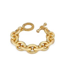 AZ Collection | Plated Chain Toggle Bracelet