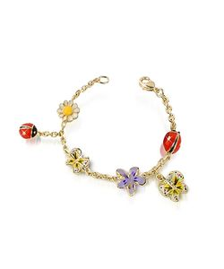AZ Collection | Garden Line Enamel Plated Charm Bracelet